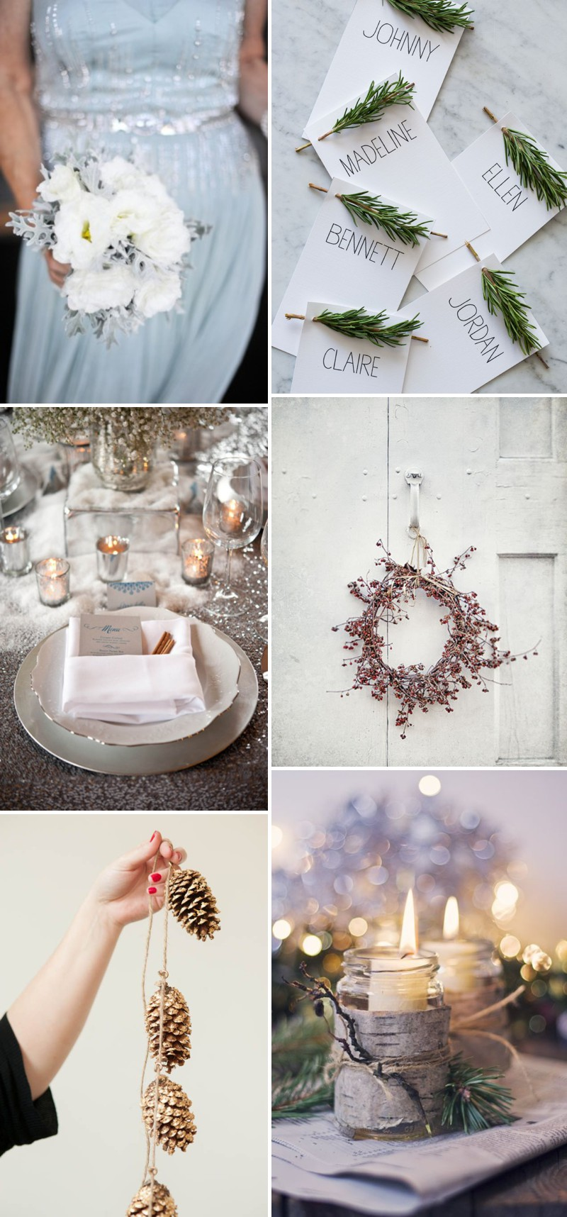 An Exquisite Winter Wedding Theme By Rock My Wedding's Pinterest Competition Winner 2