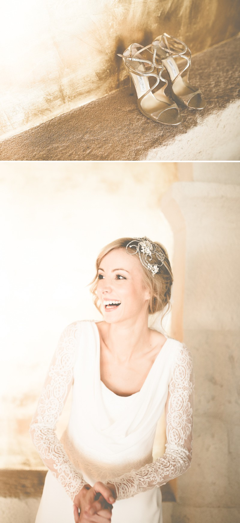 An Intimate And Luxurious Destination Wedding In Barcelona With A Suzanne Neville 'Regency' Dress And A Jenny Packham 'Valentine' Headpiece By Modern Vintage Weddings Photography._0003