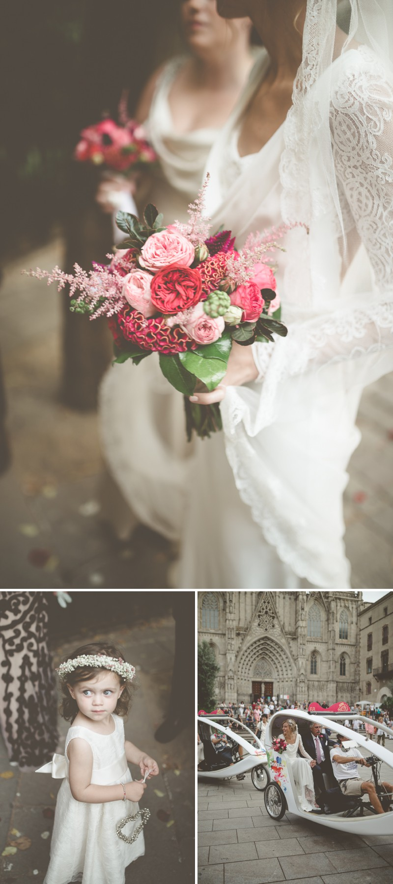 An Intimate And Luxurious Destination Wedding In Barcelona With A Suzanne Neville 'Regency' Dress And A Jenny Packham 'Valentine' Headpiece By Modern Vintage Weddings Photography._0004