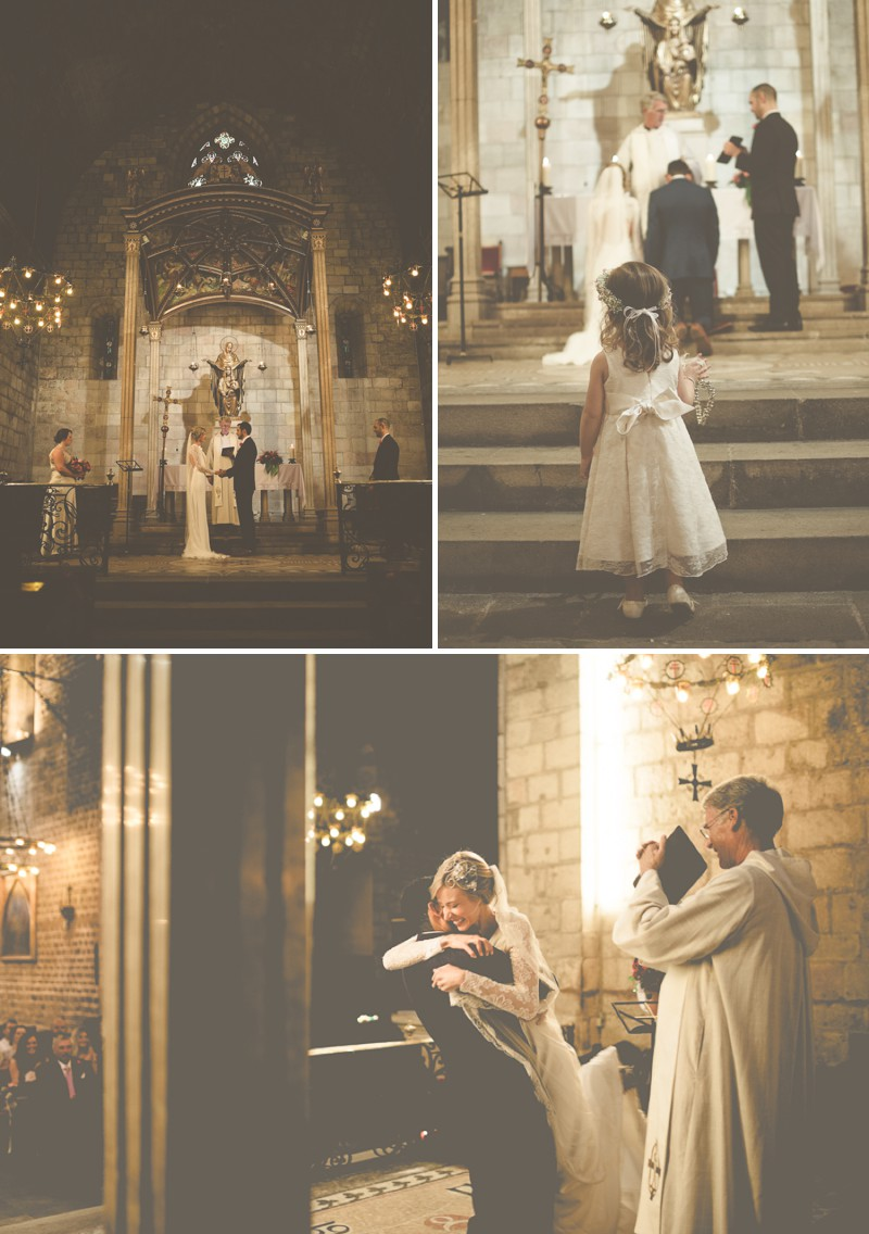 An Intimate And Luxurious Destination Wedding In Barcelona With A Suzanne Neville 'Regency' Dress And A Jenny Packham 'Valentine' Headpiece By Modern Vintage Weddings Photography._0005