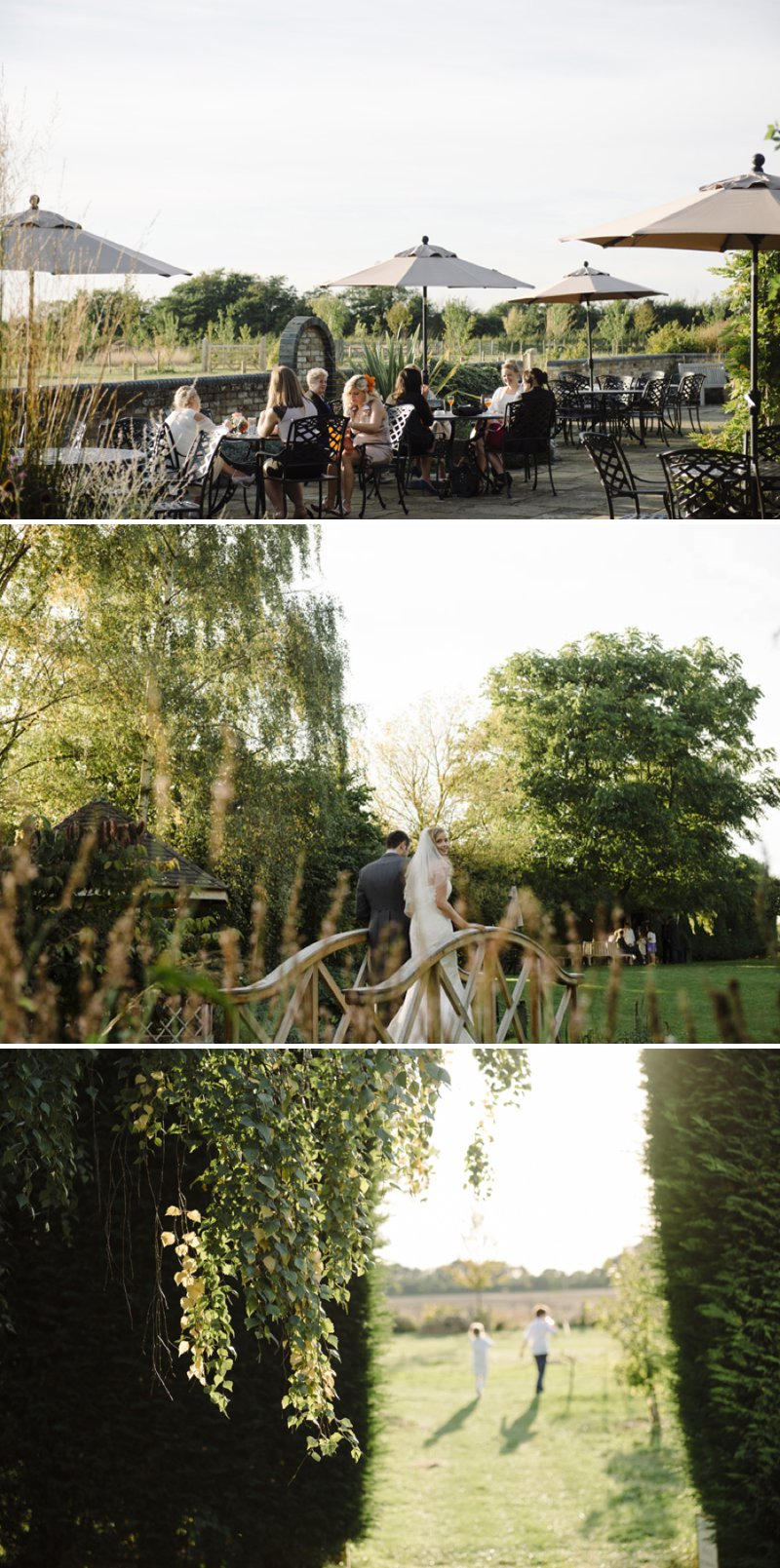 Autumnal Farm Wedding At South Farm In Cambridgeshire With Bride In Mermaid Style Lace Gown With Pumpkins For Table Centre Pieces 7