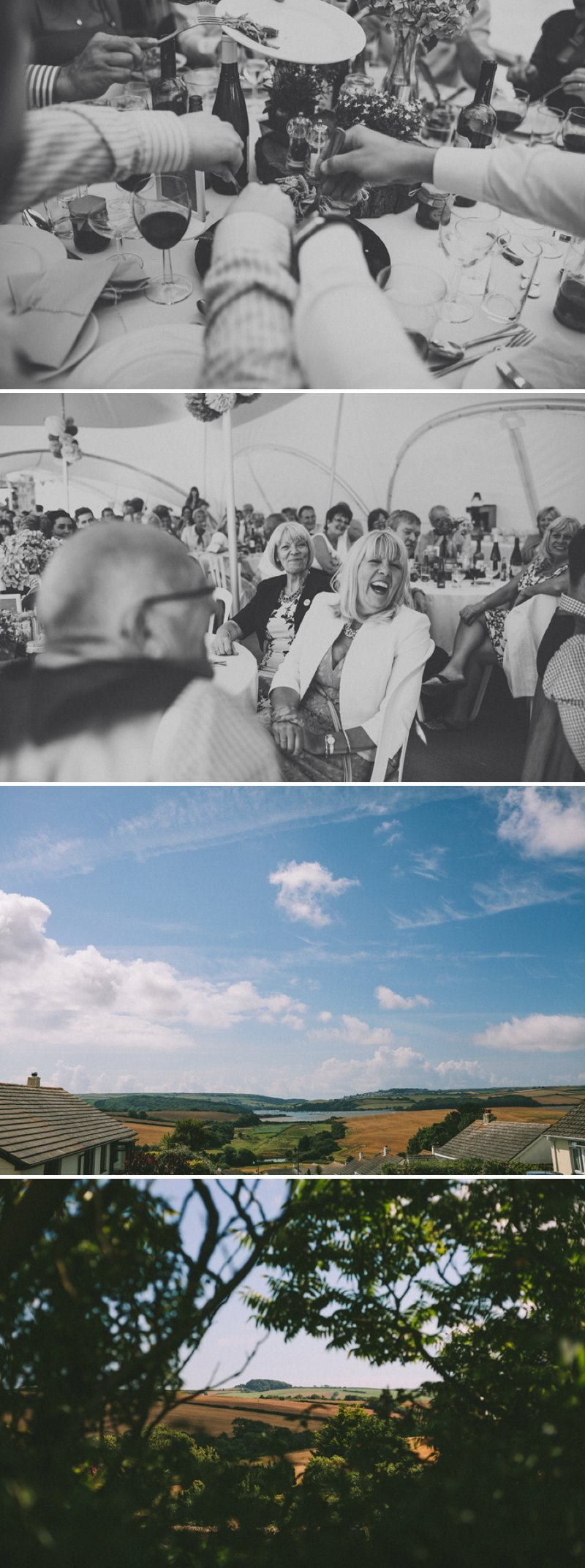Marquee Wedding In Devon With Bride In Christian Louboutin Shoes With Images From SD Photography 7