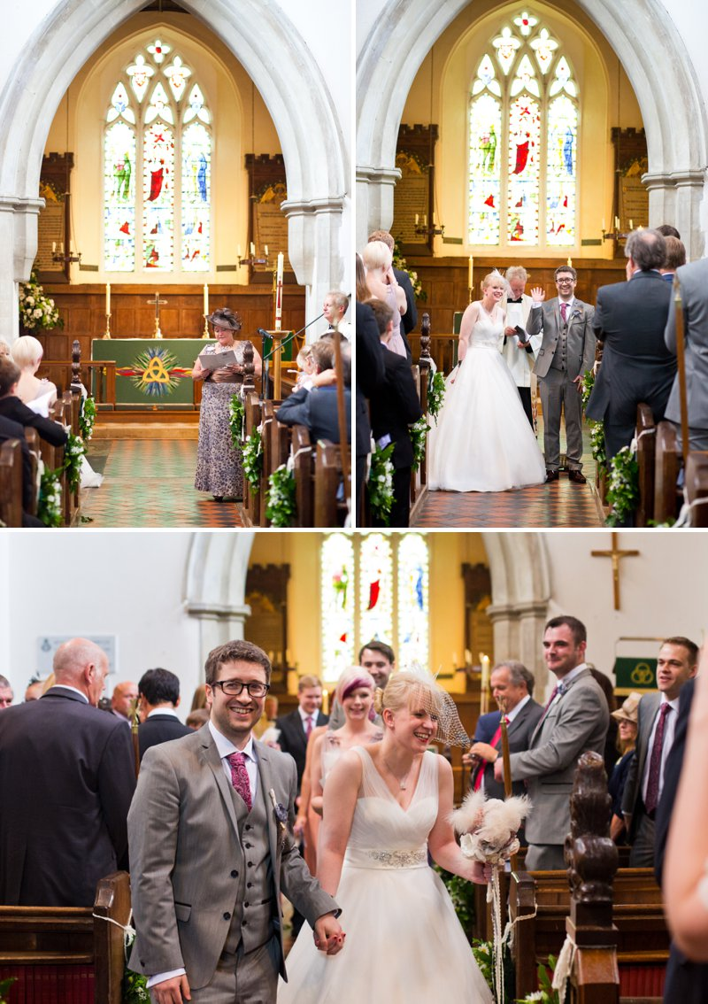 Traditional Church Wedding Of Rock My Wedding Real Bride Rebecca With Bird Cage Veil And Ellis Brides Gown Rolls Royce For Wedding Car And Fabric Flowers For Bouquets And Buttonholes 8