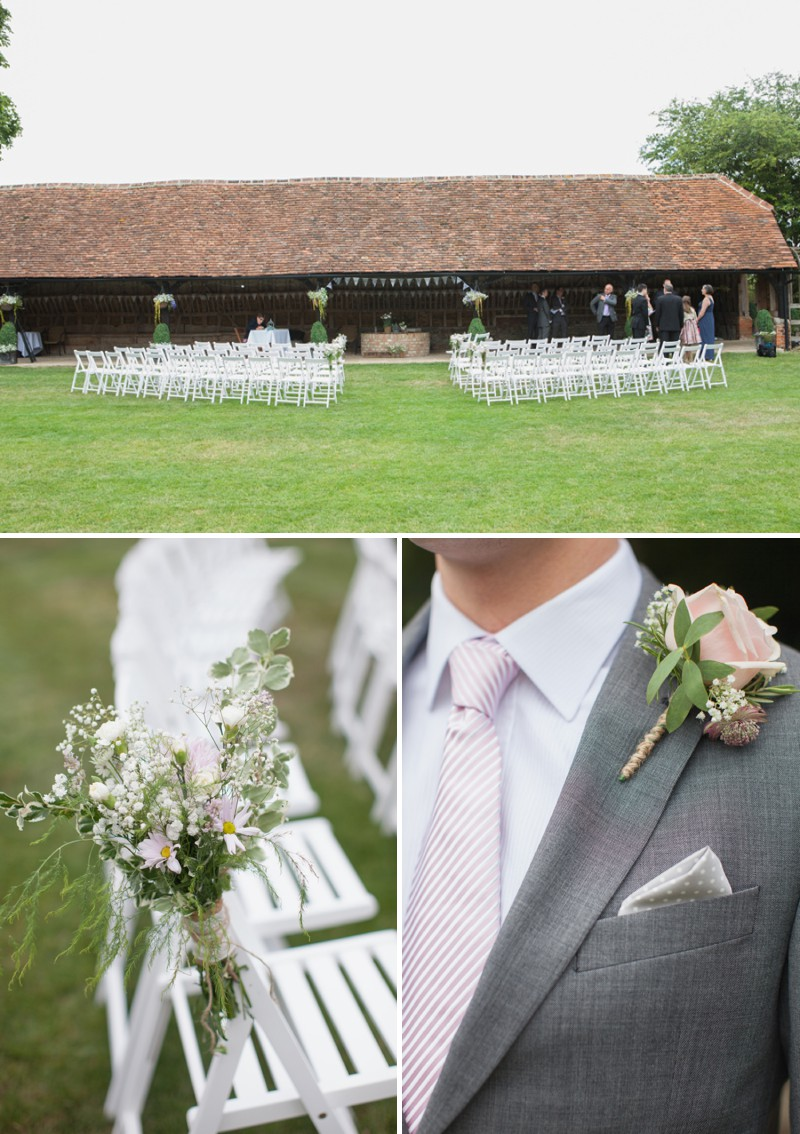 A Fun And Pretty English Garden Wedding At Lains Barn In Oxford With A Stephanie Allin Hayworth Dress And A Peony Bouquet By Hayley Savage Photography._0004