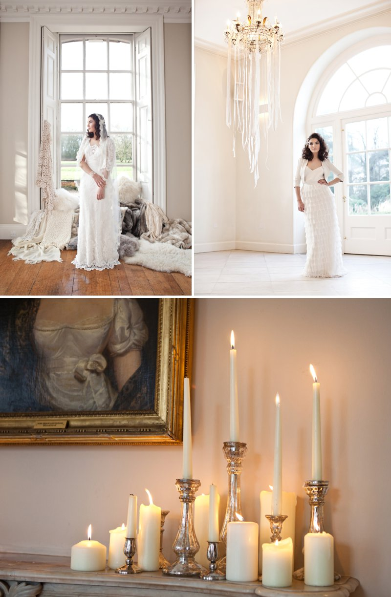 A Winter Romance Themed Bridal Inspiration Shoot At Iscoyd Park With Dresses From Charlie Brear And Accessories By DC Bouquets Images By Jo Hastings Photography 1