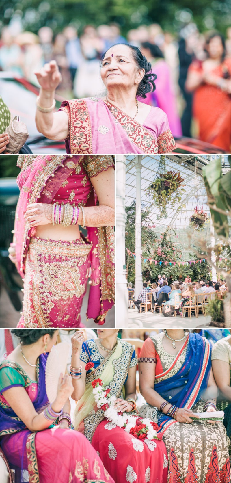 An Exotic Indian and English Fusion Wedding At Sefton Park Palm House In Liverpool With A Beautiful Vintage Lagonda And A Pink Handpicked Bouquet By Wookie Photography._0004