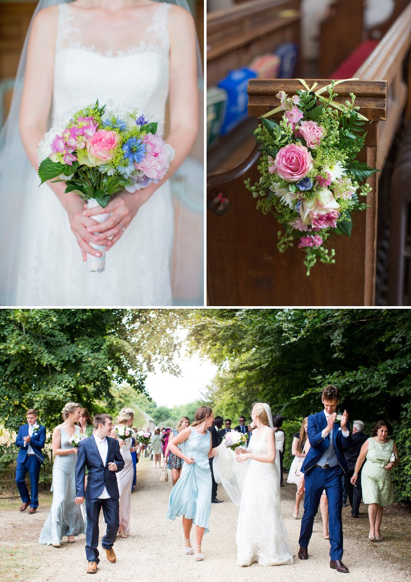 Elegant Country Garden Wedding At Narborough Hall Gardens In Norfolk With Bride In Pronovias Gown And Groom In Reiss Suit With Bridesmaids In Pastel Tone Ghost Dresses And Images From Katherine Ashdown 1
