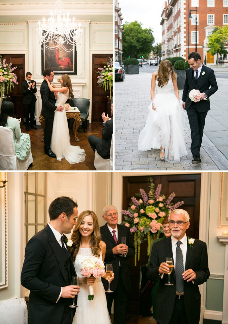Elegant Wedding At The Connaught Hotel Mayfair With Bride In Derby By Pronovias With Jimmy Choo Sandals And Groom In Navy Suit By D&G With A Colombian Themed Evening Party At Icetank Covent Garden With Images From Anneli Marinovich 4