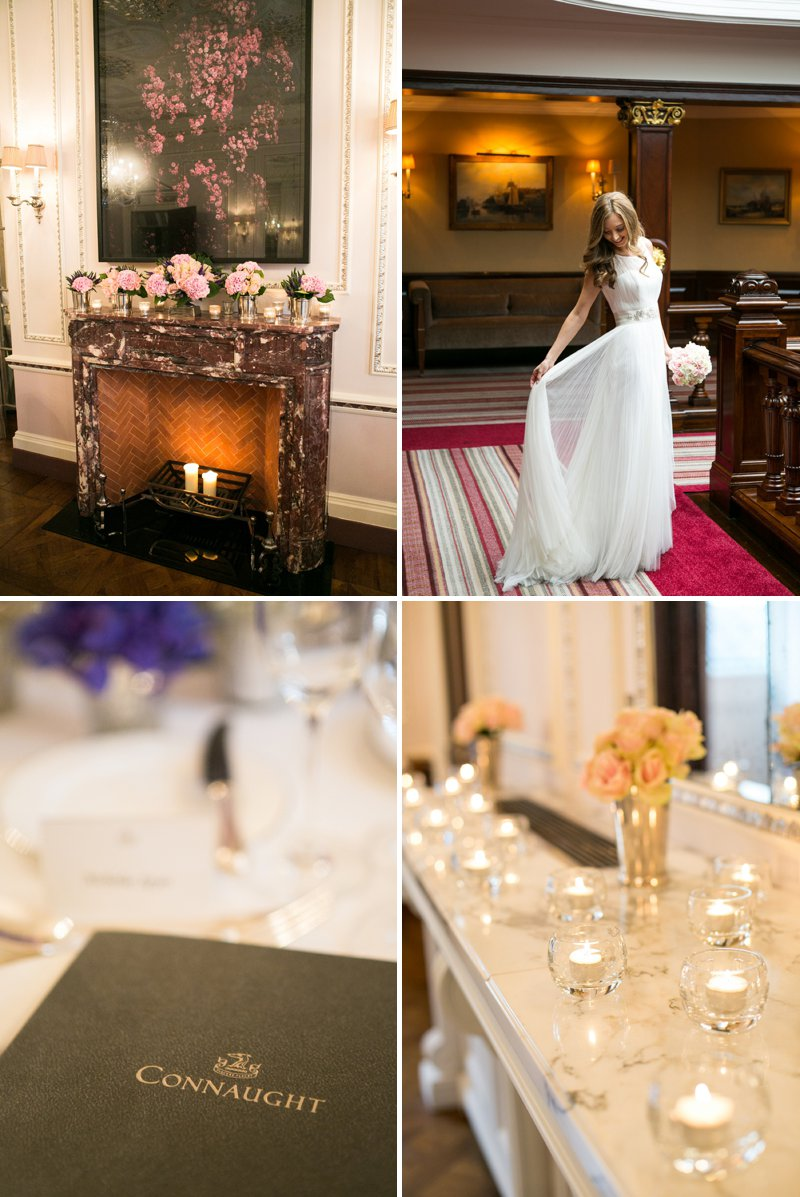 Elegant Wedding At The Connaught Hotel Mayfair With Bride In Derby By Pronovias With Jimmy Choo Sandals And Groom In Navy Suit By D&G With A Colombian Themed Evening Party At Icetank Covent Garden With Images From Anneli Marinovich 6
