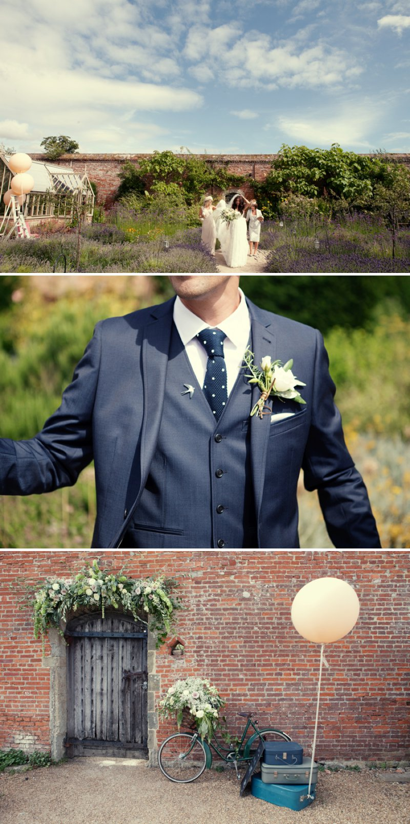 Stylish Wedding At The Walled Garden Cowdray With Bride In San Patrick Dress And Jimmy Choo Shoes And A Malene Birger Sequinned Jacket And Groom In Navy Suit From Topman 1