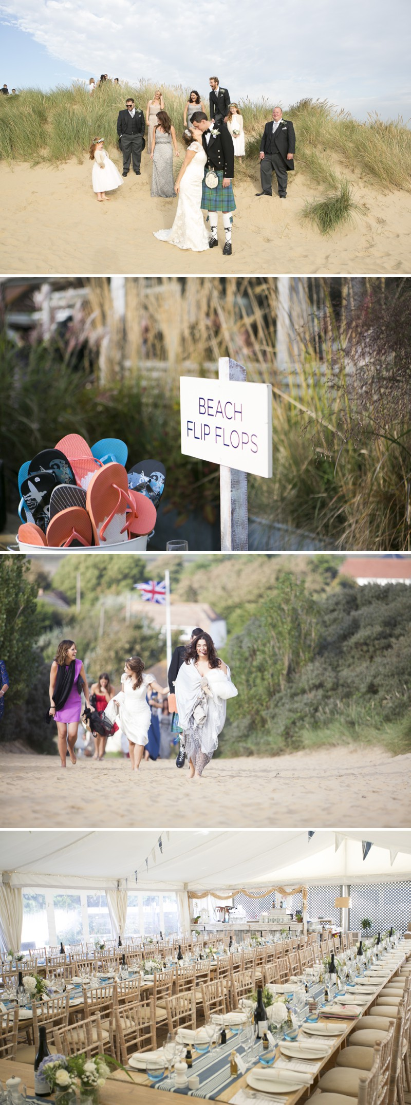 A British Beachside Wedding At The Gallivant Hotel On Camber Sands With The Suzanne Neville Captivating Dress And Sequin Bridesmaid Dresses Photographed By David Long._0005