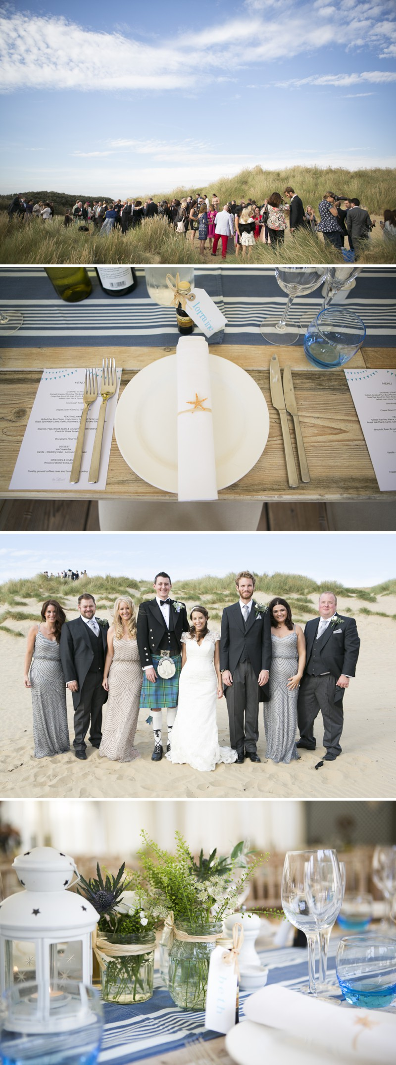A British Beachside Wedding At The Gallivant Hotel On Camber Sands With The Suzanne Neville Captivating Dress And Sequin Bridesmaid Dresses Photographed By David Long._0006