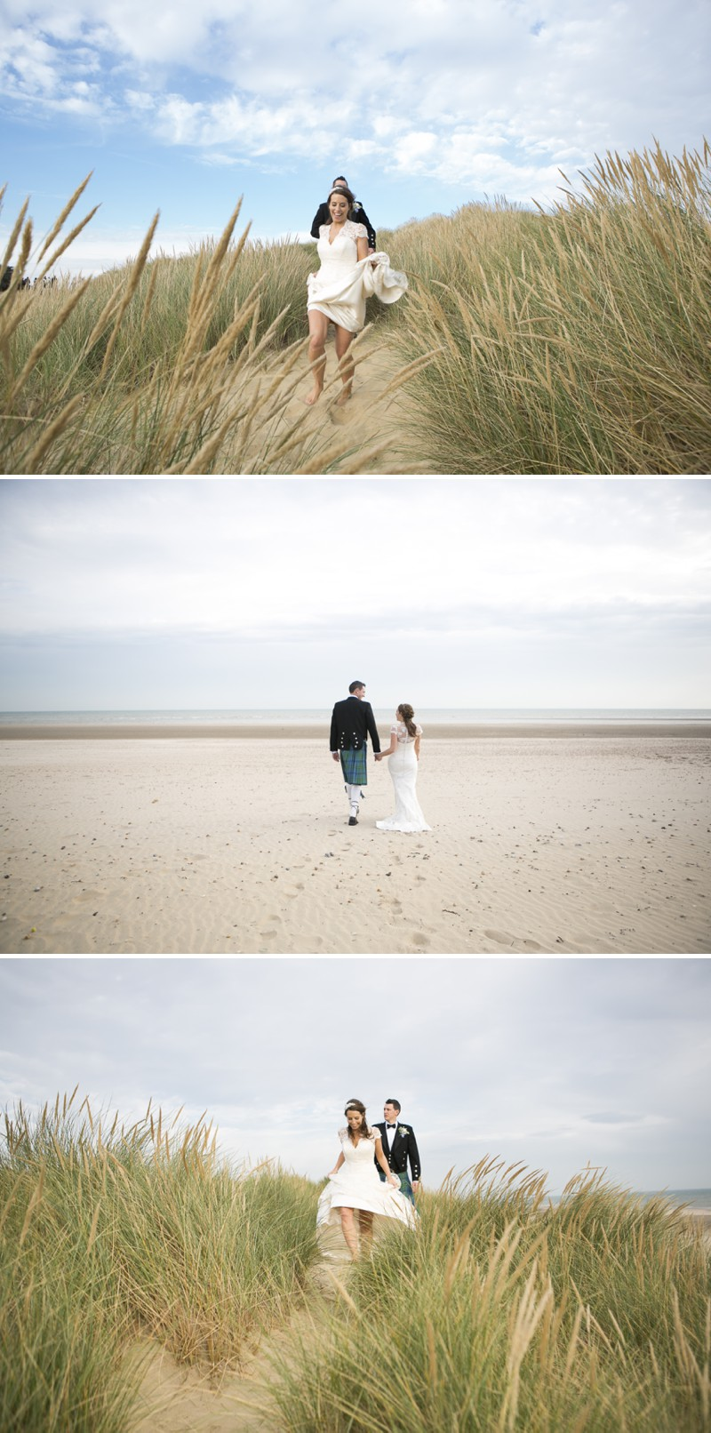 A British Beachside Wedding At The Gallivant Hotel On Camber Sands With The Suzanne Neville Captivating Dress And Sequin Bridesmaid Dresses Photographed By David Long._0007