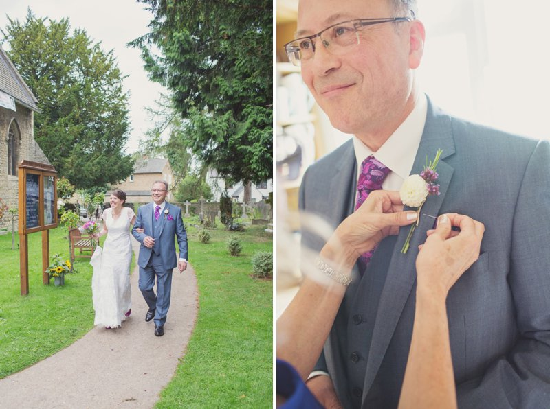 A Rustic Wedding At The Crown Inn Pishill With Bride In Bespoke Lace Gown And Groom In Tweed Suit From Clements And Church With Bunting And An Vintage VW Campervan Images From Cotton Candy Wedding Photography 3