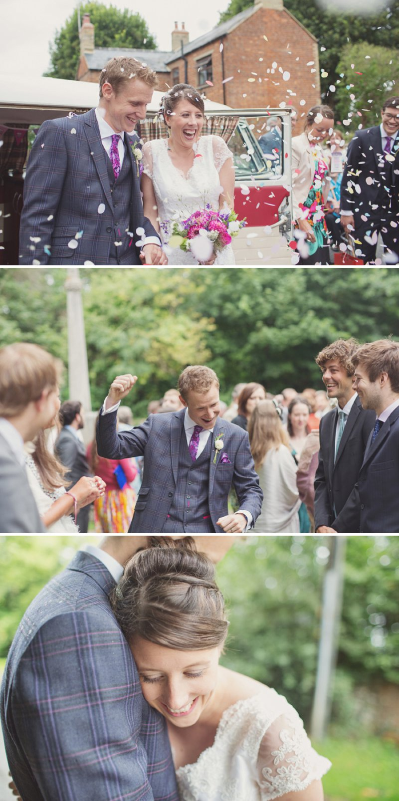 A Rustic Wedding At The Crown Inn Pishill With Bride In Bespoke Lace Gown And Groom In Tweed Suit From Clements And Church With Bunting And An Vintage VW Campervan Images From Cotton Candy Wedding Photography 4