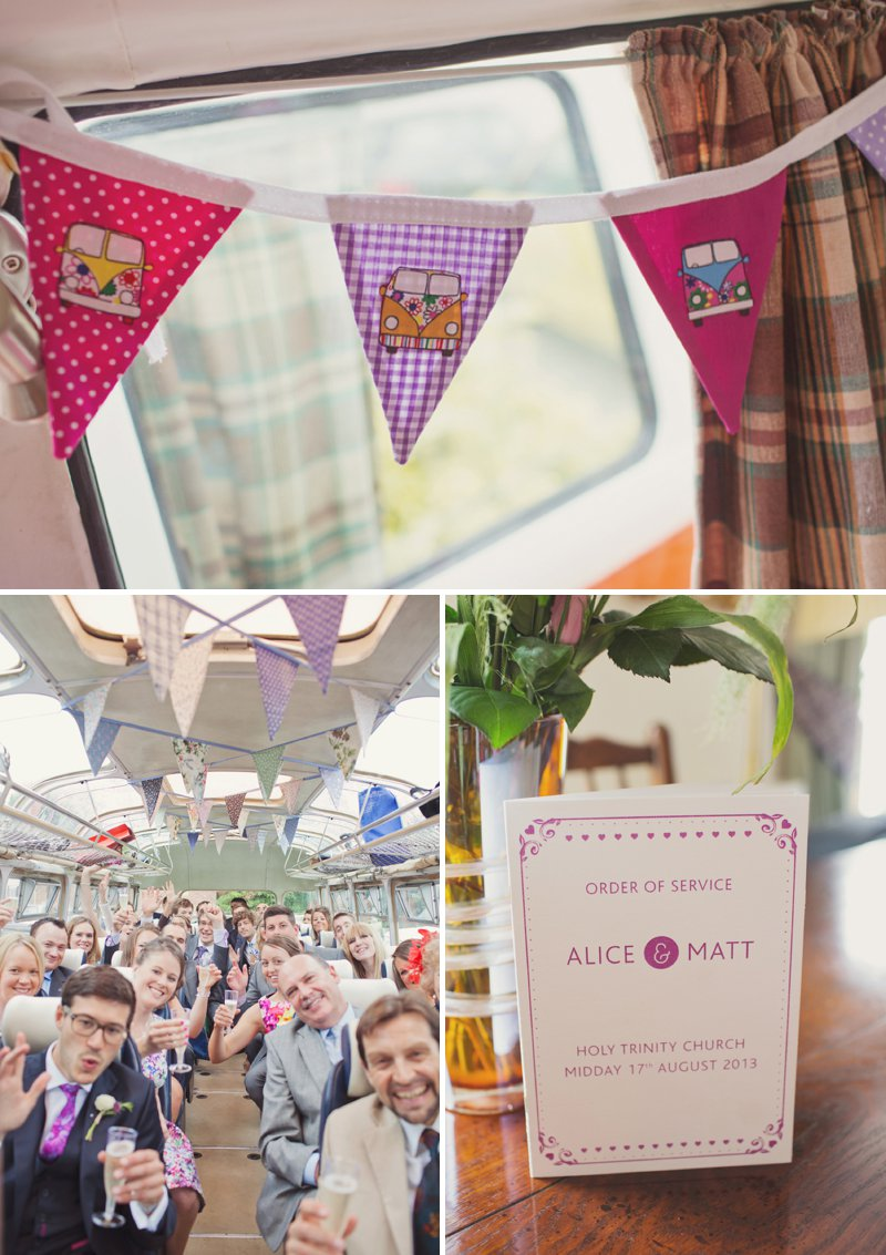 A Rustic Wedding At The Crown Inn Pishill With Bride In Bespoke Lace Gown And Groom In Tweed Suit From Clements And Church With Bunting And An Vintage VW Campervan Images From Cotton Candy Wedding Photography 5