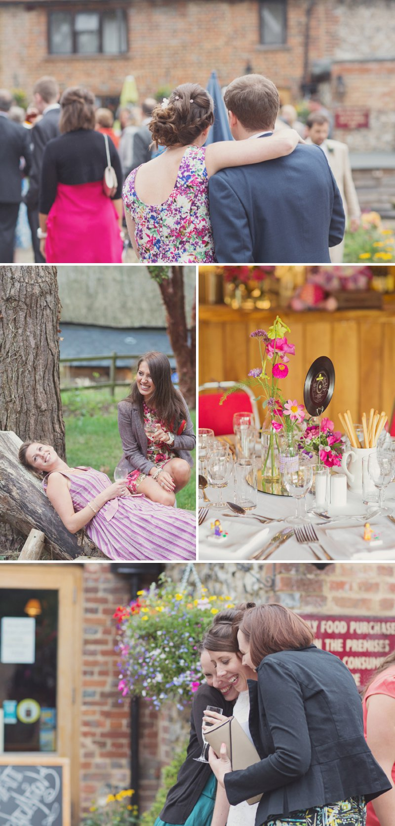 A Rustic Wedding At The Crown Inn Pishill With Bride In Bespoke Lace Gown And Groom In Tweed Suit From Clements And Church With Bunting And An Vintage VW Campervan Images From Cotton Candy Wedding Photography 7