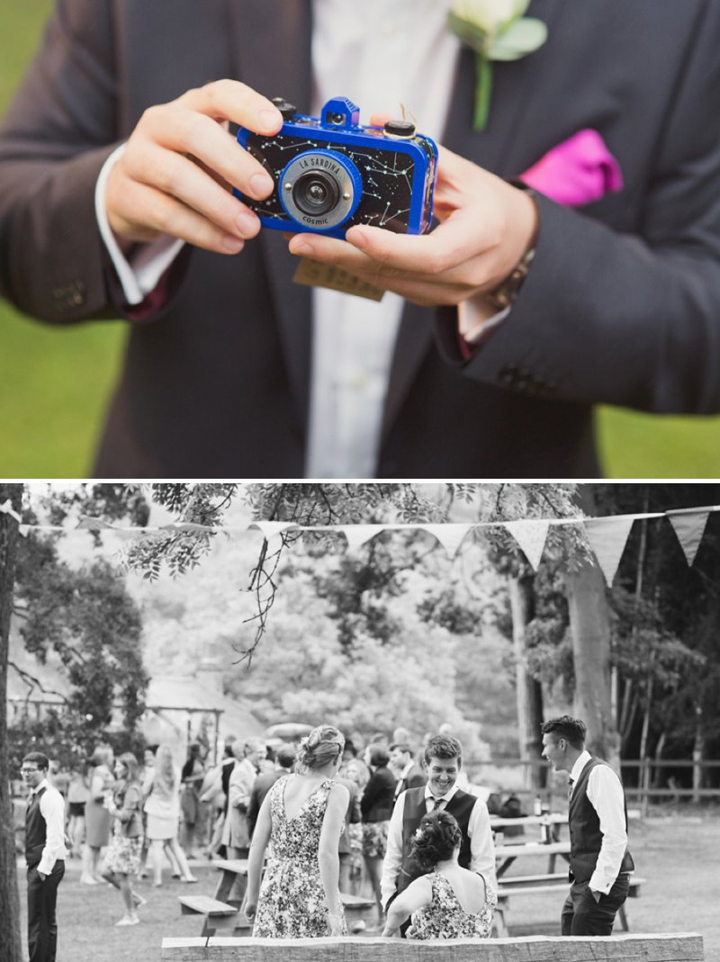 A Rustic Wedding At The Crown Inn Pishill With Bride In Bespoke Lace Gown And Groom In Tweed Suit From Clements And Church With Bunting And An Vintage VW Campervan Images From Cotton Candy Wedding Photography 9
