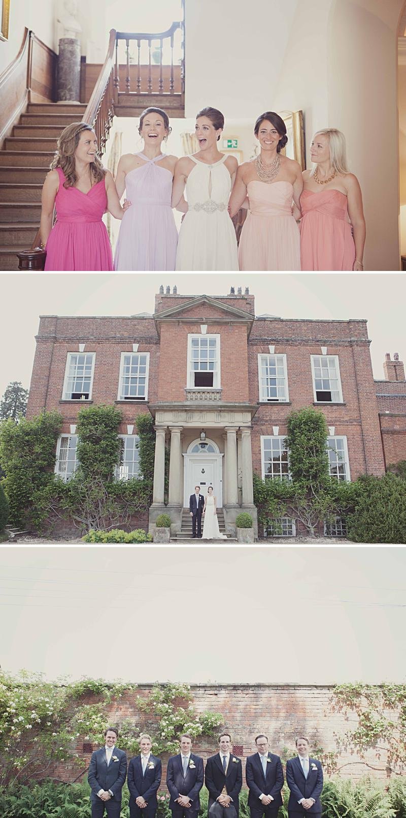 A beautiful English Outdoor Wedding at Iscoyd Park with Jenny Packham dress and lots of classic touches. Bridesmaids in miss-matched pastel J Crew and Photography by Philippa James_0001
