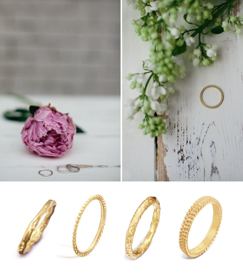 Collection Of Bespoke Wedding Rings From Scottish Jewellery Designer Alison Macleod With Images From Caro Weiss 0