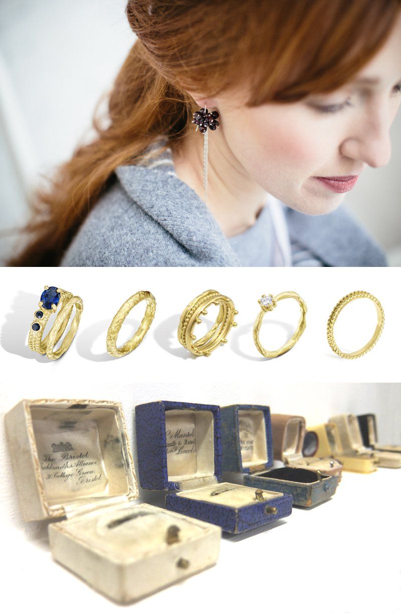 Collection Of Bespoke Wedding Rings From Scottish Jewellery Designer Alison Macleod With Images From Caro Weiss 1