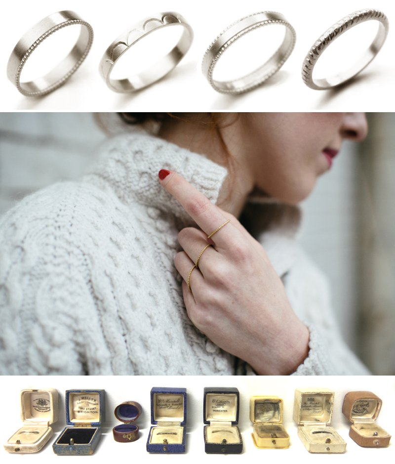 Collection Of Bespoke Wedding Rings From Scottish Jewellery Designer Alison Macleod With Images From Caro Weiss 2