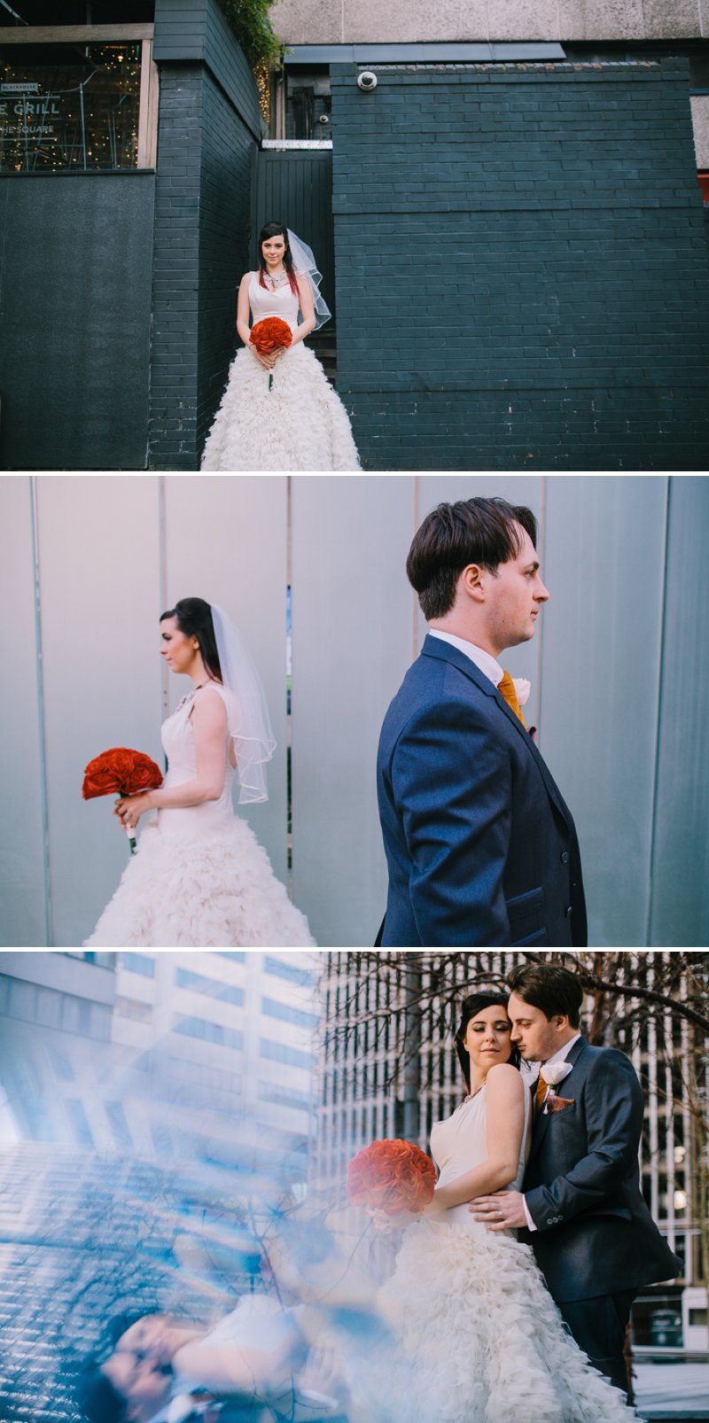 Contemporary Christmas Wedding At Aspire Leeds With Bride In Vivienne Westwood Pumps And A Statement J Crew Necklace With Groom In Ted Baker Suit And Bridesmaids In Brightly Coloured Lindy Bop Dresses Images From Chris Barber Photography 10