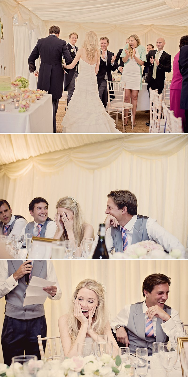 Contemporary Marquee Wedding With A Soft And Romantic Pastel Colour Scheme With Bride In Essense Of Australia Gown And Groom In Tails With Anges De Sucres Macarons And Images By Razia N Jukes Photography 7