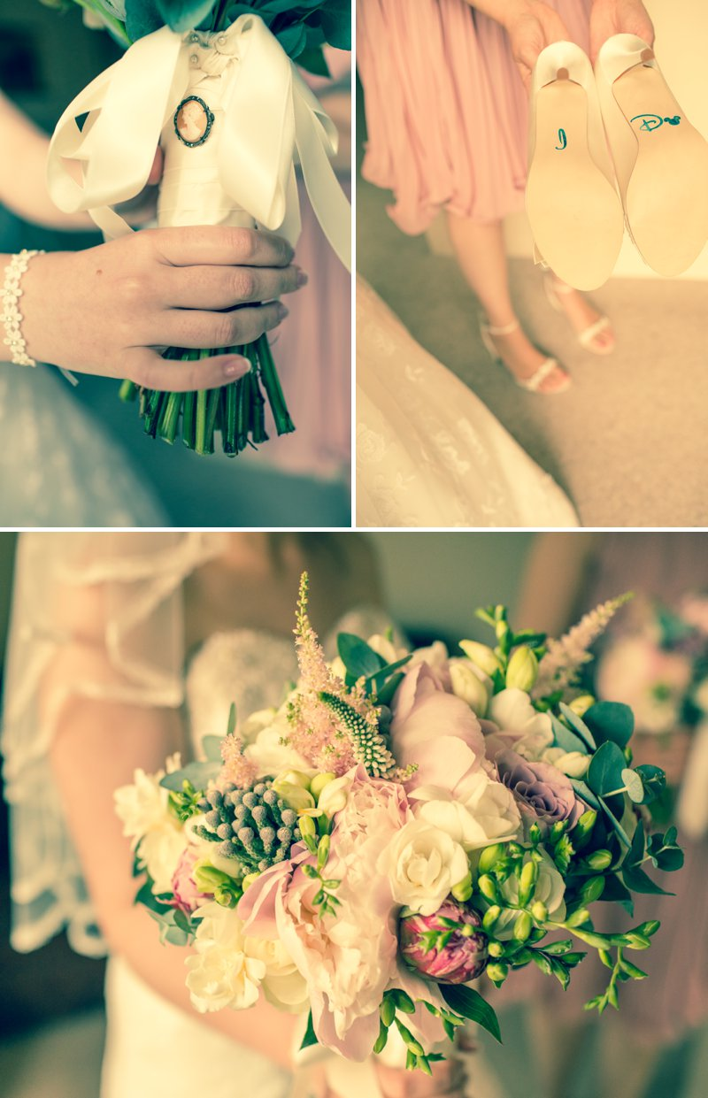 Elegant Wedding At Stanwell House Hotel In Hampshire With Bride In Phil Collins Bridal Gown And Groom In Moss Suit With A Blush Pink Colour Scheme And Comic Book Hero Details Images From Beki Young Wedding Photography 2