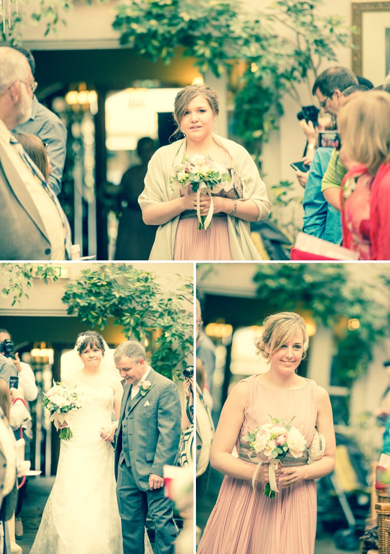 Elegant Wedding At Stanwell House Hotel In Hampshire With Bride In Phil Collins Bridal Gown And Groom In Moss Suit With A Blush Pink Colour Scheme And Comic Book Hero Details Images From Beki Young Wedding Photography 8