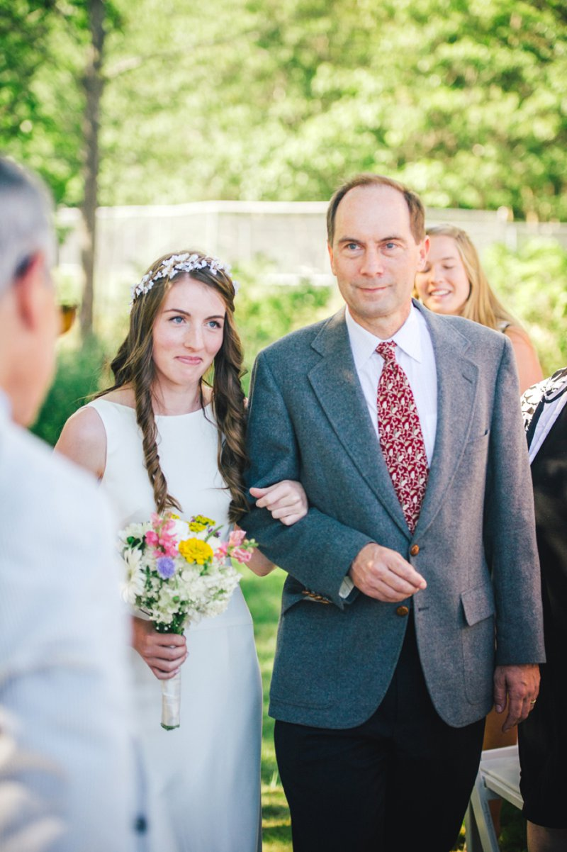 Elegant Wedding By The Sea In Maine USA With Bride In J Crew Dress And Groom In Navy Banana Republic Suit With An Outdoor Ceremony At The Brides Family Home With Beautiful Photography From Rebekah J Murray 6