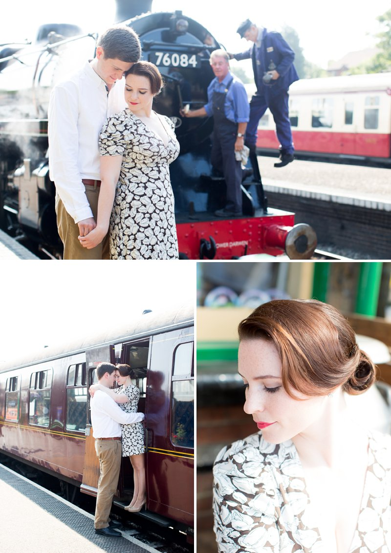 Engagement Shoot At Sheringham Station Norfolk With Steam Engines And Vintage Styling From Flamingo Amy Images By Katherine Ashdown 1