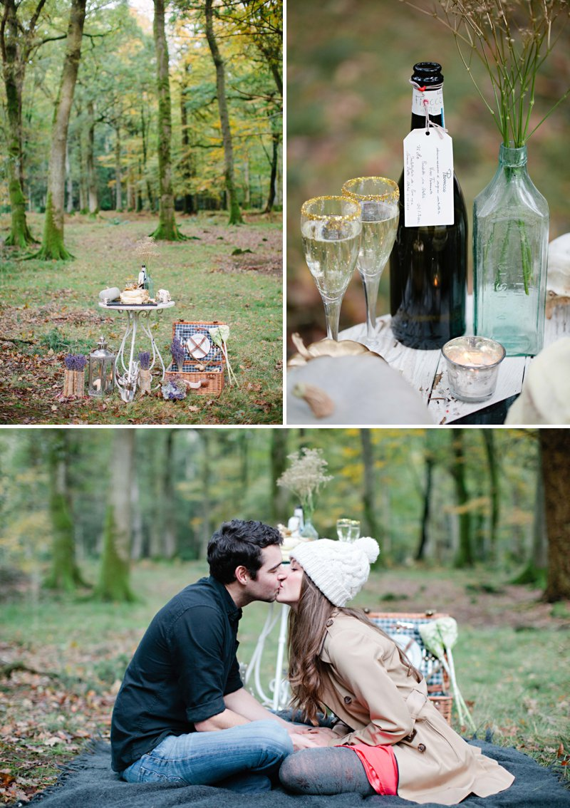 Romantic Prosecco Picnic Engagement Shoot In The Brecon Beacons Image By Millie & Belle Photography 1