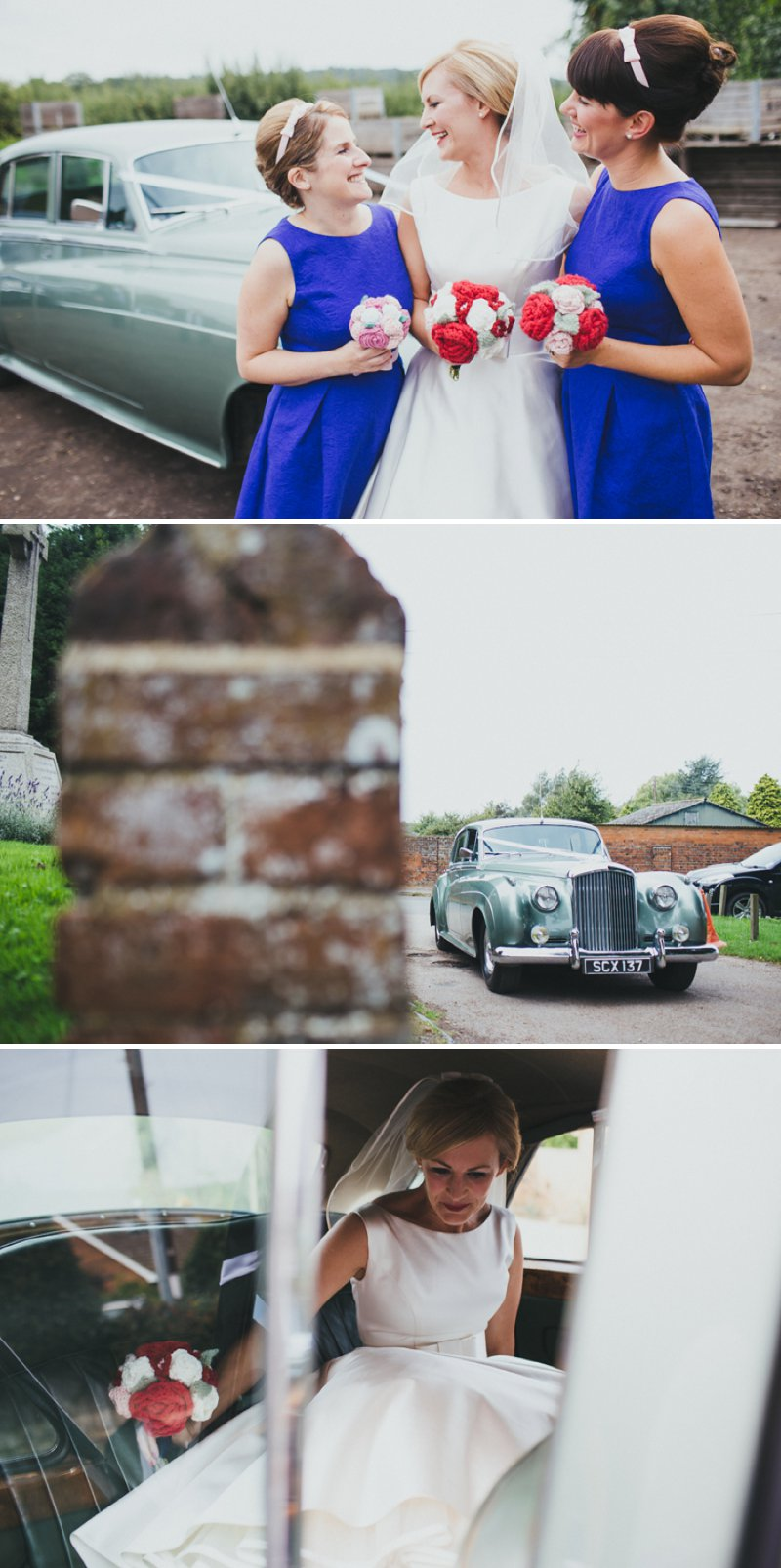 Vintage Inspired DIY Wedding At Kingston Village Hall With Bride In 50s Style Tea Length Gown And Groom In Topman Suit With Red Shoes And Knitted Bouquets, Ties And Corsages With Fete Games And A Coconut Shy 3