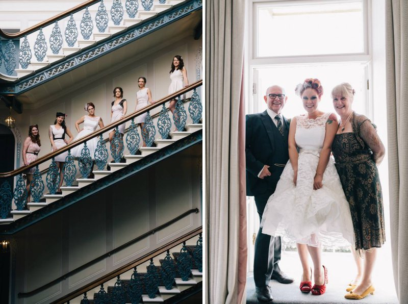 50s Mod Inspired Wedding With An Outdoor Ceremony At Brighton Bandstand And Reception At Stanmer House With Bride In Candy Anthony Gown And Red Irregular Choice Shoes With Groom In Burgundy Suit 4