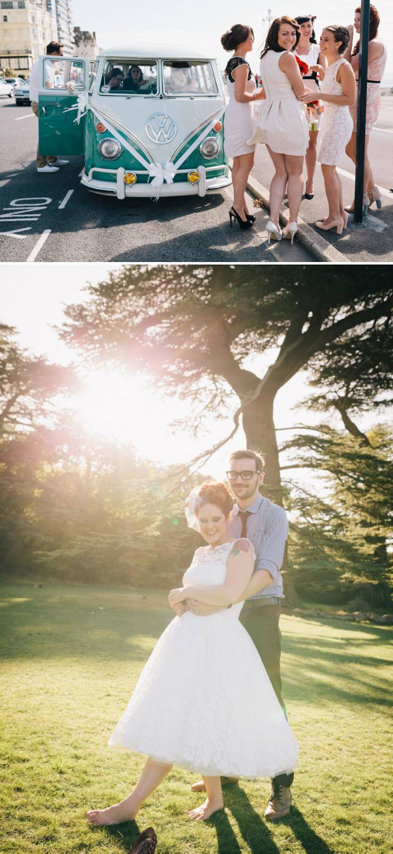 50s Mod Inspired Wedding With An Outdoor Ceremony At Brighton Bandstand And Reception At Stanmer House With Bride In Candy Anthony Gown And Red Irregular Choice Shoes With Groom In Burgundy Suit 6