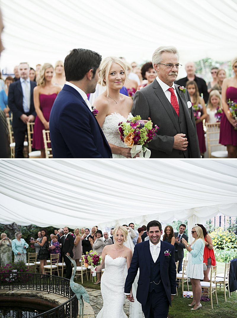 A Beautiful English backgarden Wedding with Justin Alexander dress and lots of DIY home made elements. Bridesmaids in French Connection and Photography by David Long_0008