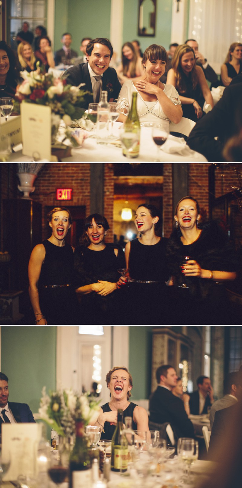A Christmas Themed Contemporary Wedding At The Metropolitan Building In New York With A Temperley Dress And Black COS Bridesmaid Dresses By Hacker Wedding Photography._0007