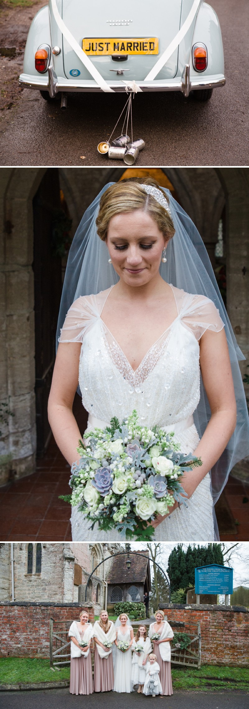 A Warm Winter Glamorous Rustic Wedding With A Jenny Packham Dress And Blue Toned Bouquet With Photography By Lucy Davenport._0005