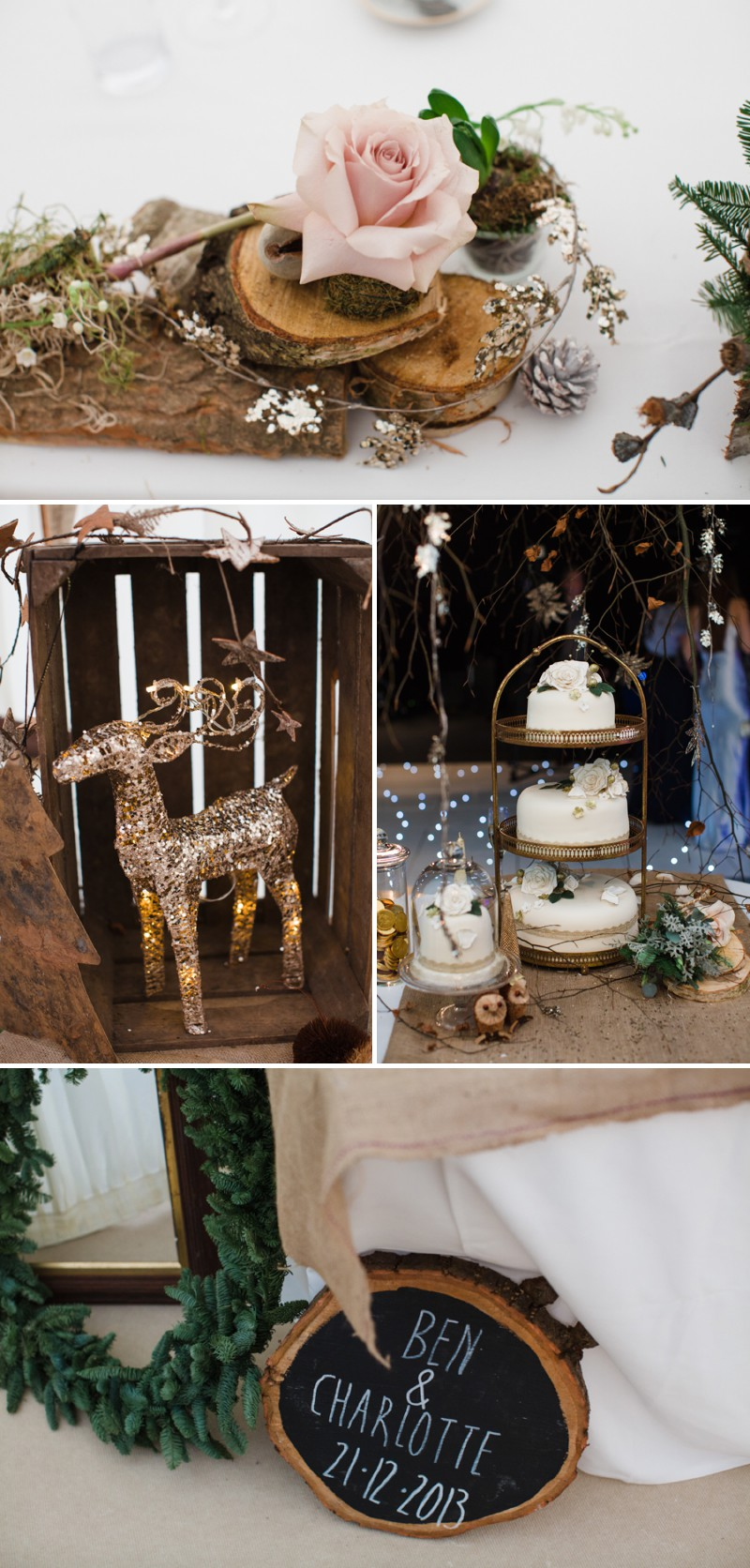A Warm Winter Glamorous Rustic Wedding With A Jenny Packham Dress And Blue Toned Bouquet With Photography By Lucy Davenport._0010