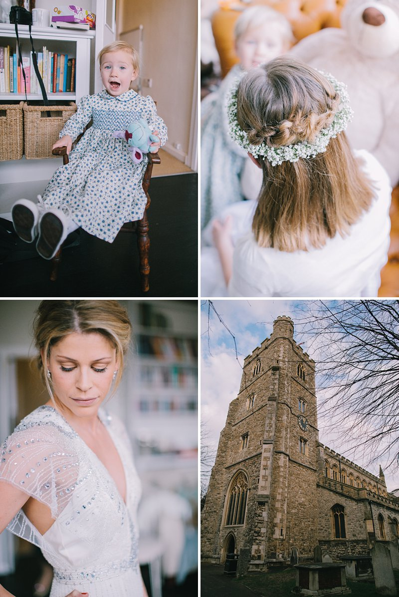 A cool and contemporary english city wedding in London with Jenny Packham dress and lots of DIY home made elements. Bridesmaids in Coast and Photography by Chris Barber_0004