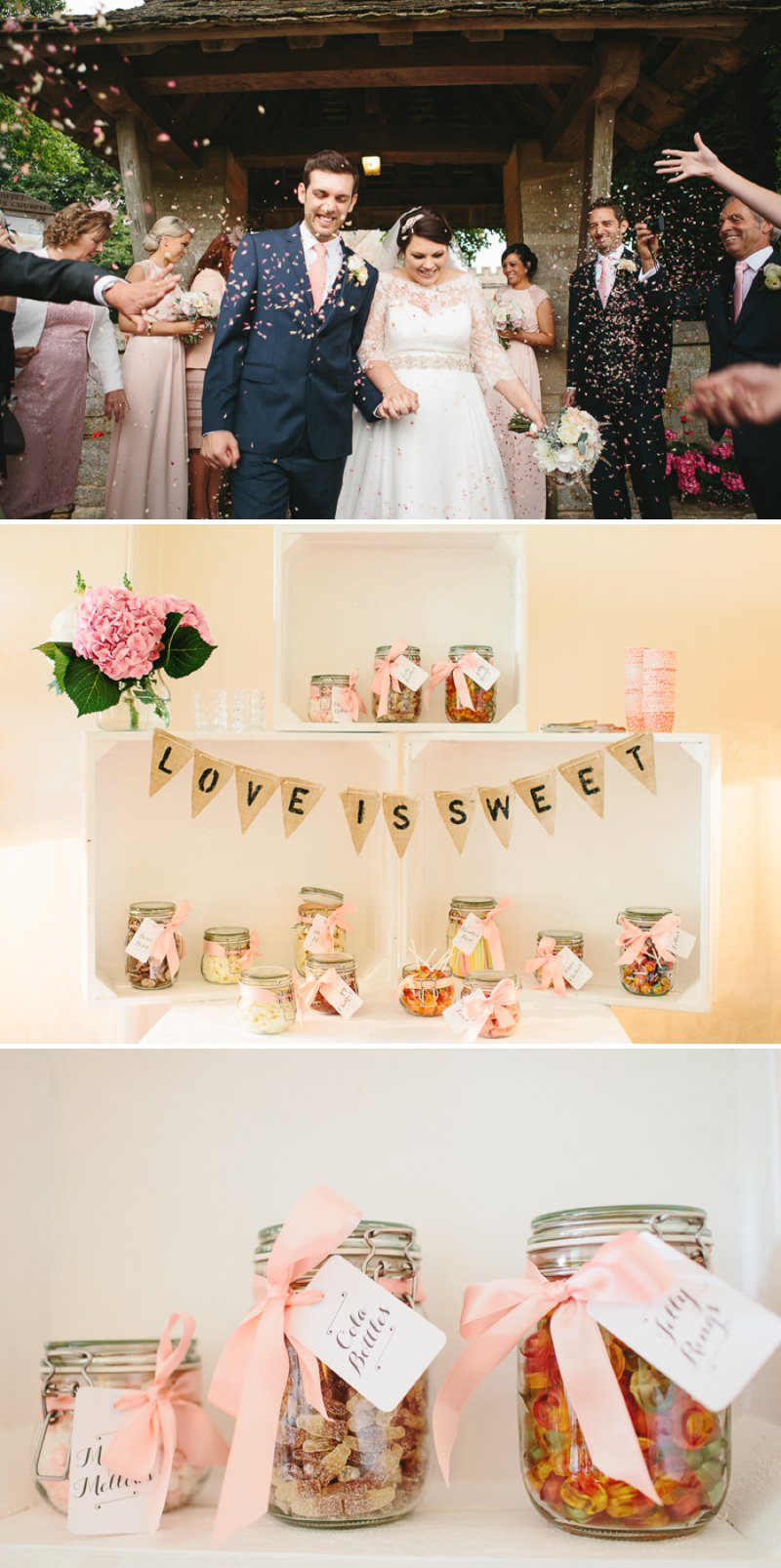Blush Pink And Gold Glitter Themed Wedding At The Rectory Hotel With Bride In Bespoke Gown By Dana Bolton And Groom In Ted Baker Pashion Suit With Elegant Typography Across The Paper Goods And Images By Shell de Mar Photography 1