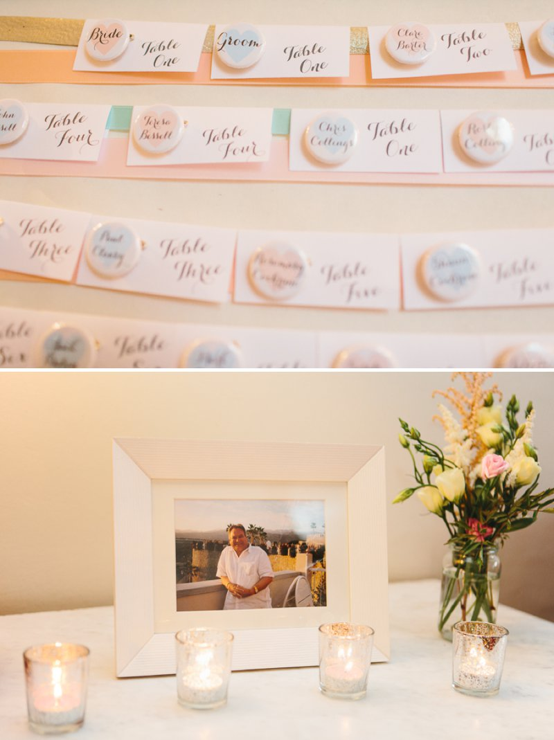 Blush Pink And Gold Glitter Themed Wedding At The Rectory Hotel With Bride In Bespoke Gown By Dana Bolton And Groom In Ted Baker Pashion Suit With Elegant Typography Across The Paper Goods And Images By Shell de Mar Photography 10