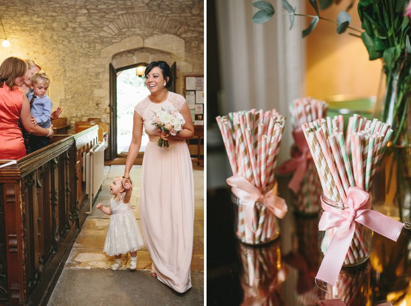 Blush Pink And Gold Glitter Themed Wedding At The Rectory Hotel With Bride In Bespoke Gown By Dana Bolton And Groom In Ted Baker Pashion Suit With Elegant Typography Across The Paper Goods And Images By Shell de Mar Photography 4