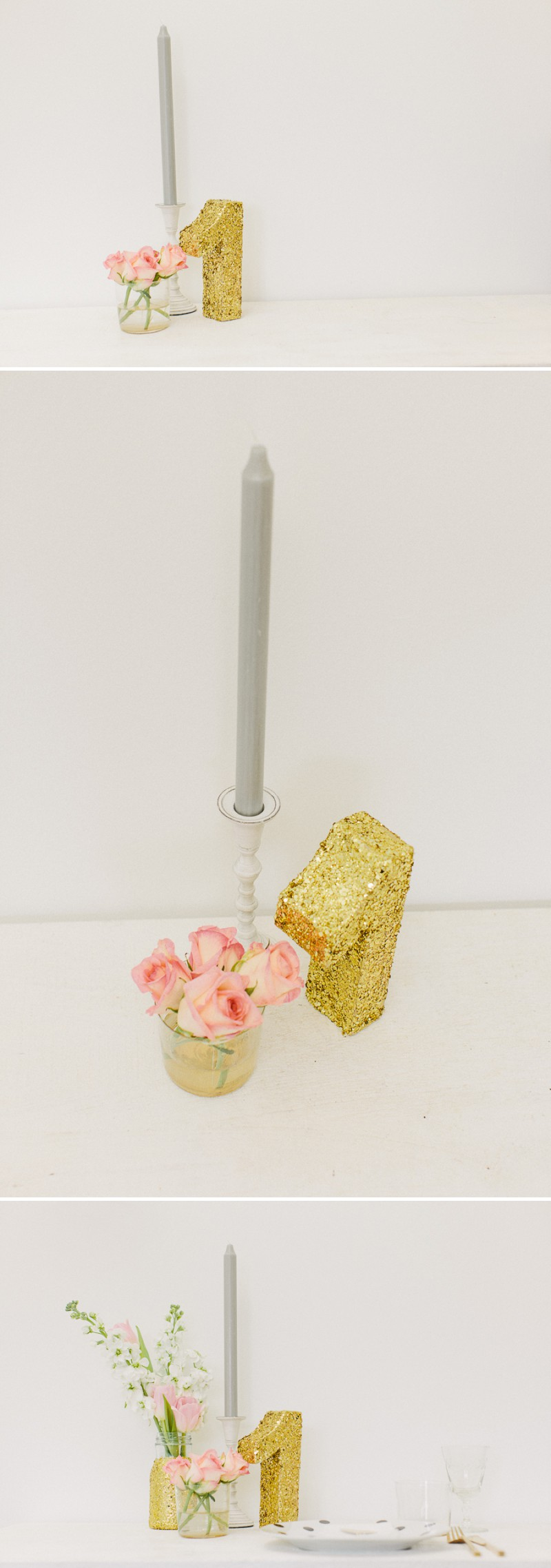 How to create a golden glittery table number for your wedding table settings and table plans._0006