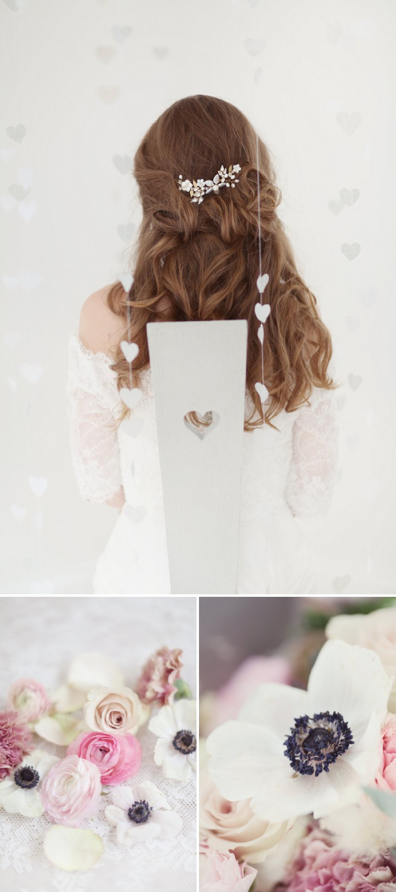 Pastel Valentines Day Inspired Bridal Shoot Featuring Hair Accessories From Corrine Smith Design With Flowers From I Heart Flowers And Images By Eva Sanders Photography 4