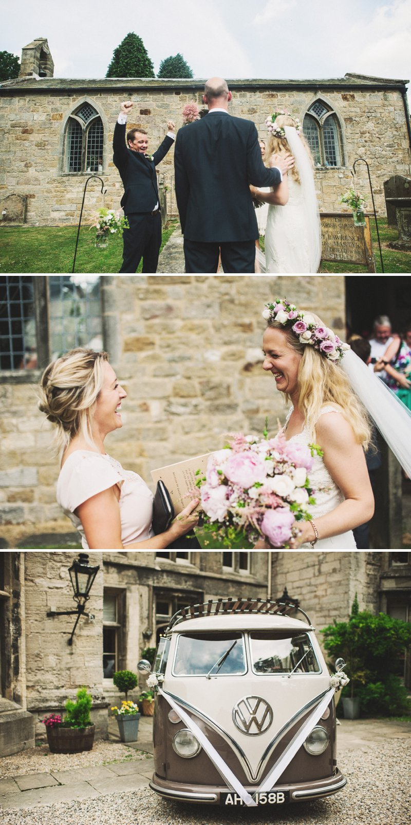 Rustic Marquee Wedding At Mallard Grange In Yorkshire With A Dusty Pink, Cream And Grey Colour Scheme With Bride In Gown From Eternity Bridal With A Vintage VW Camper Van 4