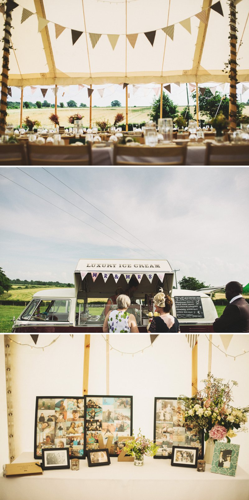 Rustic Marquee Wedding At Mallard Grange In Yorkshire With A Dusty Pink, Cream And Grey Colour Scheme With Bride In Gown From Eternity Bridal With A Vintage VW Camper Van 6