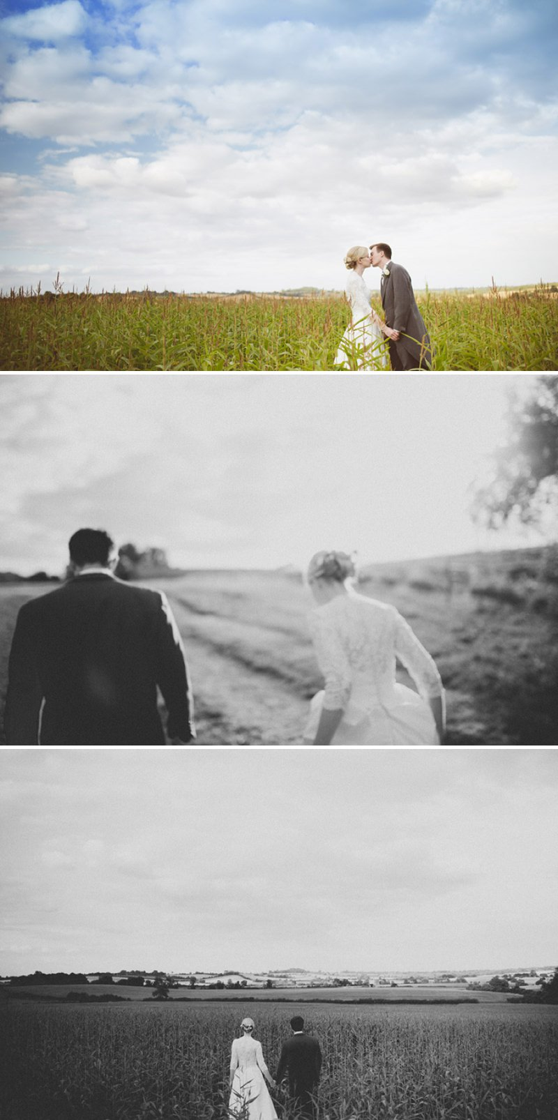 Rustic Wedding At Creslow Manor With Bride In Lace Paloma Blanca Gown With Groom In Morning Dress And Bridesmaids In Floral Print Dresses And Roses And Gypsophila In Bouquets Images By Joseph Hall 11