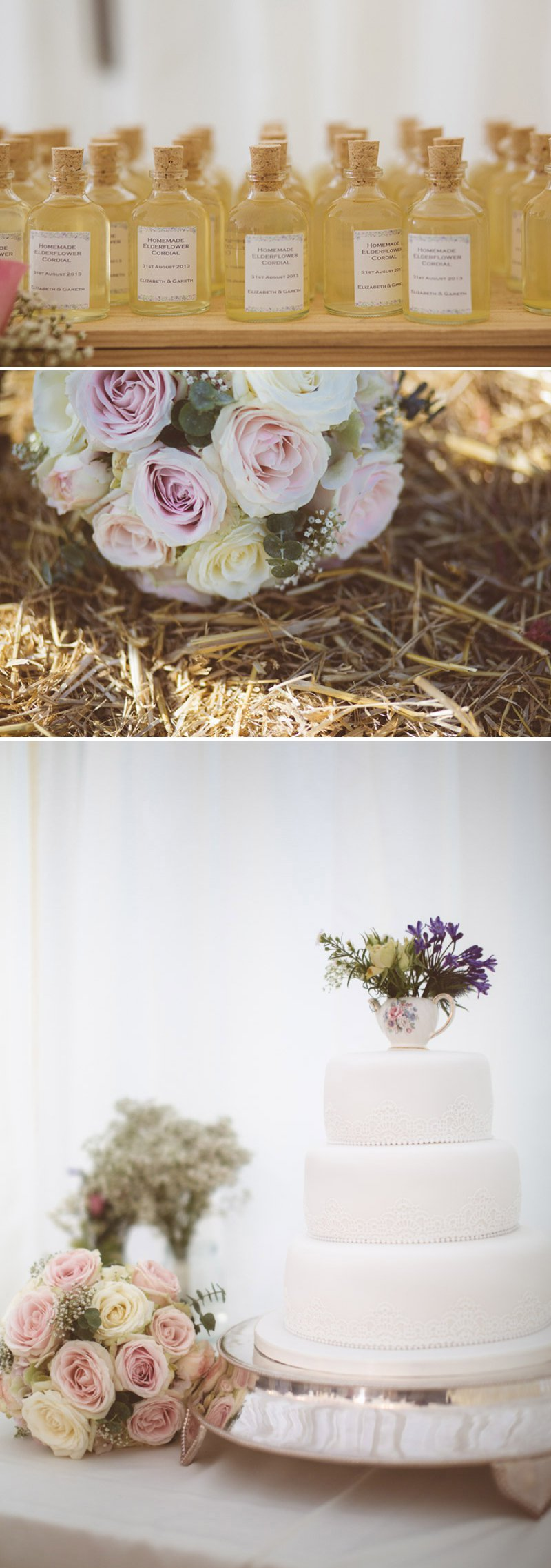 Rustic Wedding At Creslow Manor With Bride In Lace Paloma Blanca Gown With Groom In Morning Dress And Bridesmaids In Floral Print Dresses And Roses And Gypsophila In Bouquets Images By Joseph Hall 7